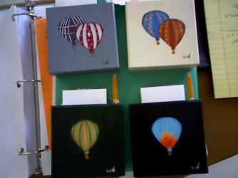 BALLOON NOTEPAD HOLDER W/PENCIL HAND PAINTED