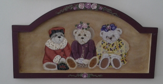 SENIOR MOMENTS BEARS HAND PAINTED