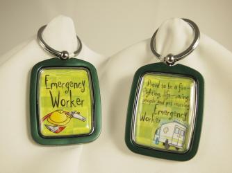 EMERGENCY WORKER KEYCHAIN