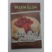 SCENTED ENVELOPE SACHET WHITE CHERRY CHEESECAKE