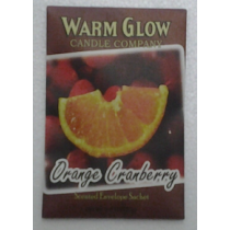 SCENTED ENVELOPE SACHET ORANGE CRANBERRY