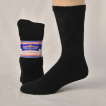 DIABETIC SOCKS PACK OF 3 9-11 BLACK QUARTER