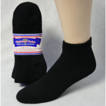 DIABETIC SOCKS 13-15 QUARTER BLACK