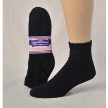 DIABETIC SOCKS 13-15 QUARTER NAVY