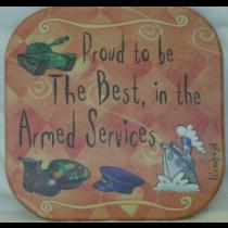 ARMED SERVICE COASTER