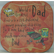 WORLDS GREATEST DAD COASTER
