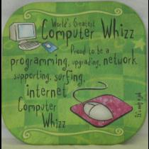 COMPUTER WHIZ COASTER