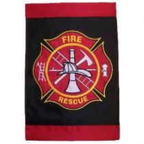 FIREFIGHTER GARDEN FLAG