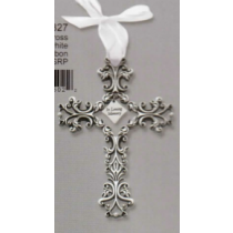 IN LOVING MEMORY CROSS PEWTER