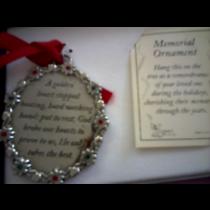 MEMORAIL ORNEMENT SILVER