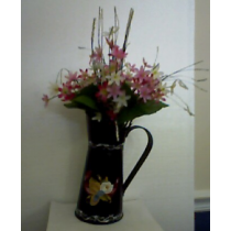 ROSEMAILING TIN PITCHER