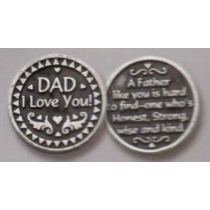 DAD POCKET TOKEN PEWTER