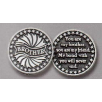 BROTHER POCKET TOKEN PEWTER