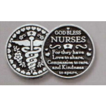 NURSE POCKET TOKEN PEWTER