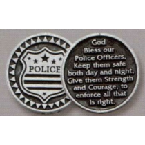 POLICE POCKET TOKEN PEWTER