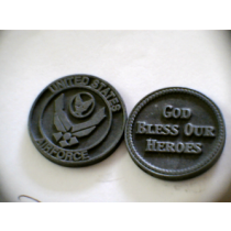 AIR FORCE POCKET TOKEN PEWTER
