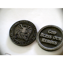 NATIONAL GUARD POCKET TOKEN PEWTER