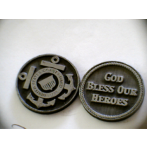 COAST GUARD POCKET TOKEN PEWTER