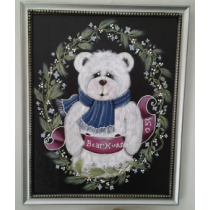 BEAR HUGS HAND PAINTED