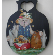 HONEY BEAR PADDLE HAND PAINTED