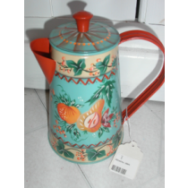 FOLK ART COFFEE POT HAND PAINTED