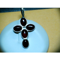 CHERRY BALTIC AMBER PENDANT STERLING SILVER