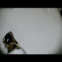 CHERRY AMBER RING SZ 8