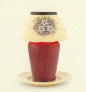 FLORAL BOUQUET CANDLE WARMER LID WITH PLATE