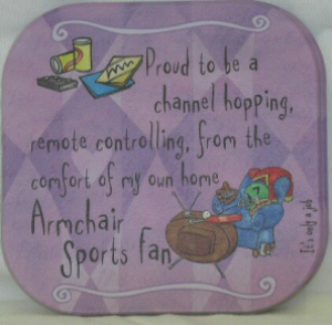 ARMCHAIR SPORT FAN COASTER