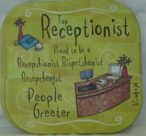TOP RECEPTIONIST COASTER