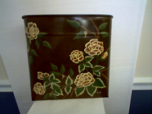 FLOWERED WALL POCKET HAND PAINTED