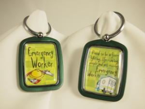 EMERGENCY WORKER KEYCHAIN