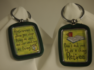 RETIREE KEYCHAIN