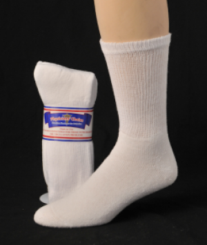 DIABETIC SOCKS 10-13 WHITE
