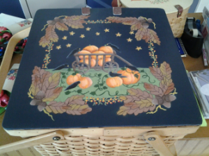 PUMPKIN BASKET HAND PAINTED