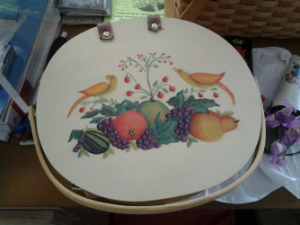 FRUIT WITH BIRDS HAND PAINTED